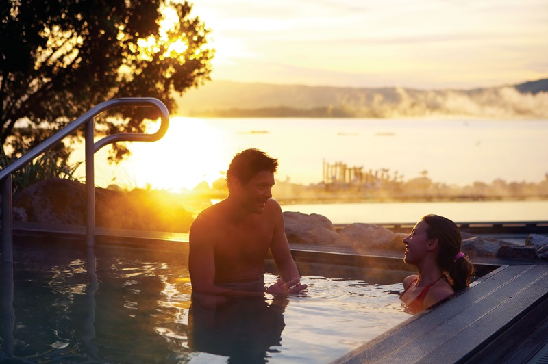 Polynesian Spa. Thermal hot springs and health spa, Rotorua.