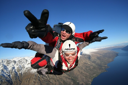 Nzone Skydiving Queenstown 12,000 ft/15,000 ft
